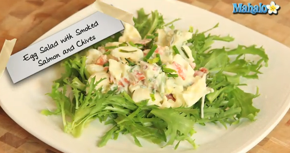How to Make Egg Salad With Smoked Salmon and Chives