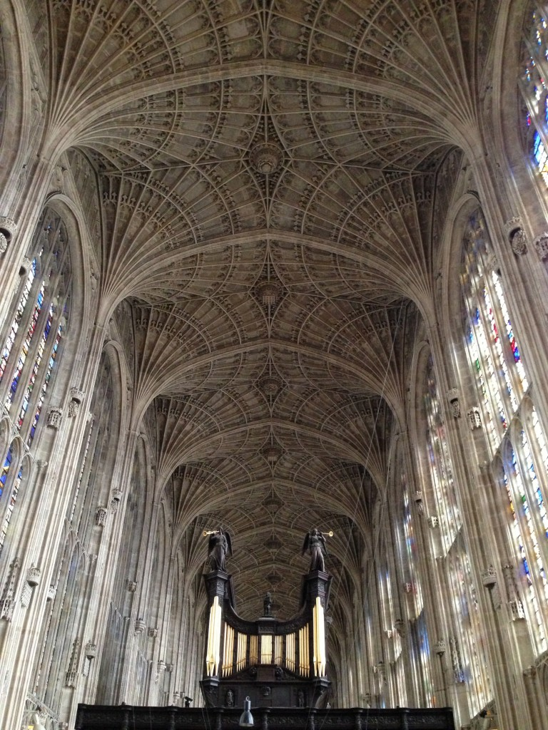Inside kings college cathedral